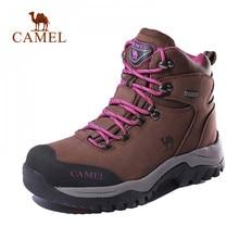 캐멀 여성 하이 탑 하이킹 신발 내구성 안티 슬립 따뜻한 야외 등산 트레킹 신발 군사 전술 부츠