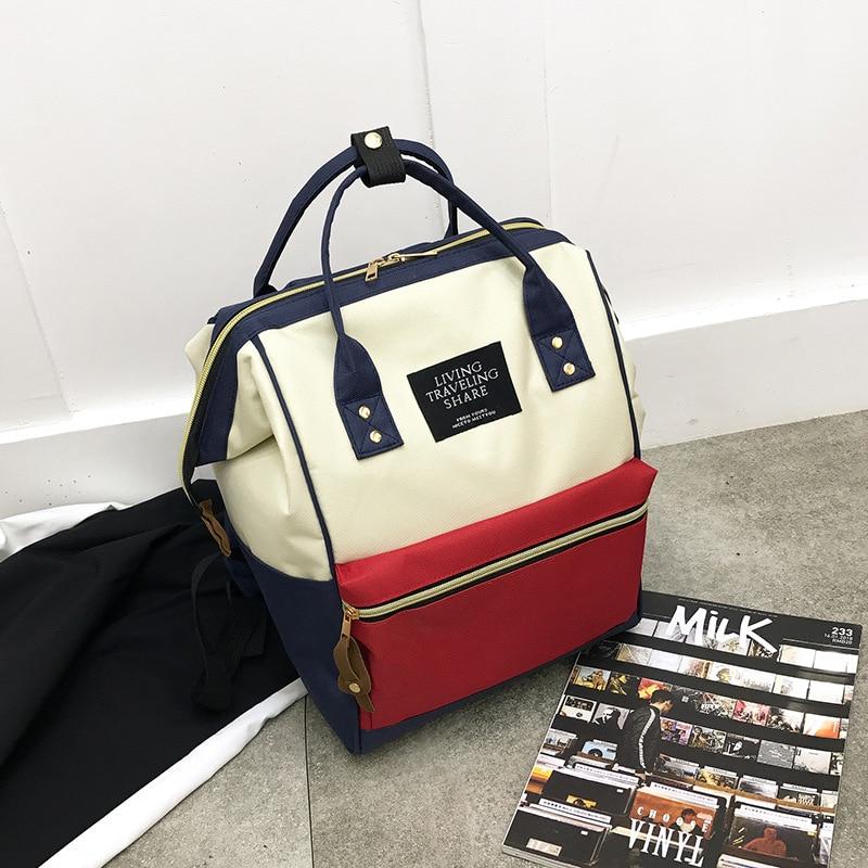 Diaper Bag Women's Fashion Multi-functional Mommy Bag Feeding Bottle Backpack Large-Volume Aiaper Backpack