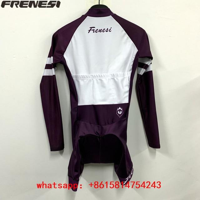 2020 feminino corrida frenesi pro equipe triathlon terno manga longa ciclismo skinsuit macacão correndo engrenagem maiô ropa ciclismo 3