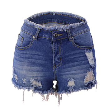 2020 Summer Zipper Tassels Edge Cowboy Tight  Jeans Woman With Button All Match Denim Shorts zipper front backpack with tassels