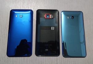 Image 4 - U 11 חזרה כיסוי עבור HTC U11 5.5 אינץ מקורי שיכון זכוכית אחורי דלת תיקון החלפת סוללה מקרה