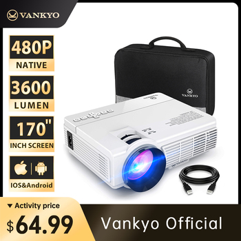 VANKYO L3 Mini Projector 1920*1080P 170'' Display Portable Projector with 40000 Hrs LED Lamp Life TV Stick PS4 HDMI PK Q5