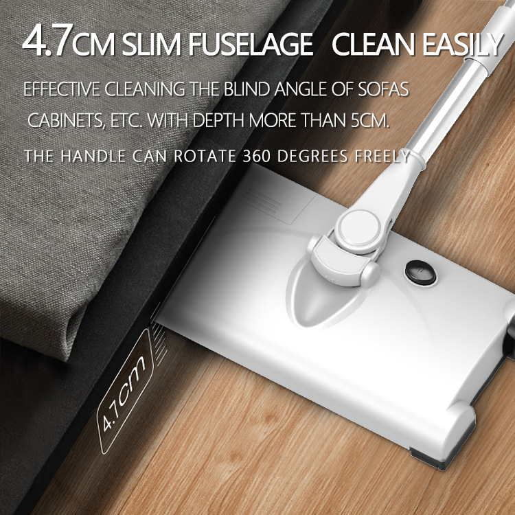 Electric 360 Degree Swivel Cordless Cleaning Sweeper Mopping Dust Cleaner Telescopic Handle Mop For Home Office Cleaning Tools