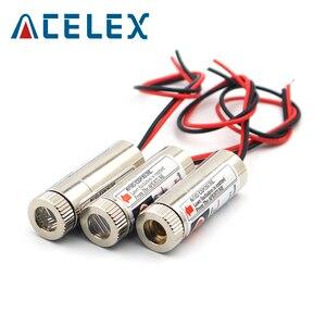 Image 3 - 5mW 650nm kırmızı çizgi lazer modülü odak ayarlanabilir lazer diyot kafa endüstriyel çap 12MM 5V Metal cam lens kafa