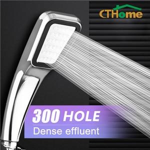 CTHome 300 Hole Square High Pressure Bathroom Rainfall Shower Head Handheld Shower Water Saving Shower Head Filter Sprayer Head