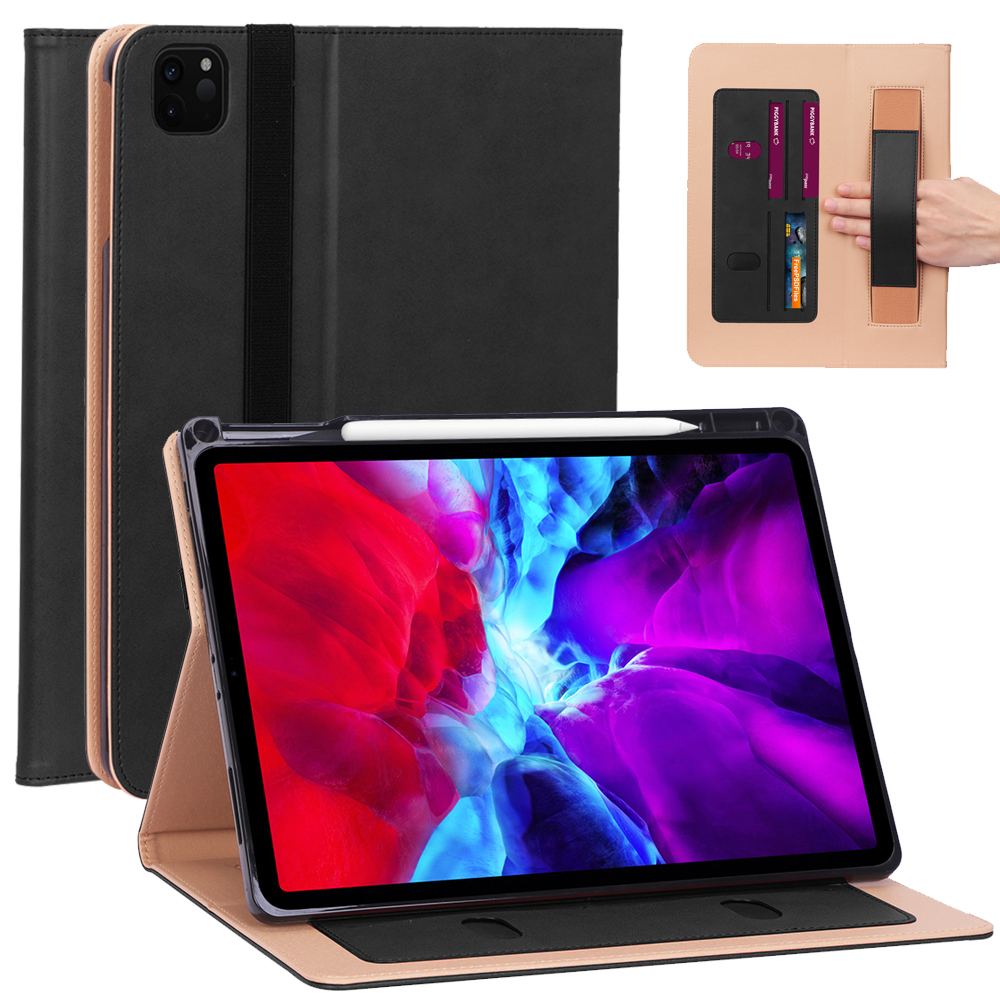 1 Red Business Smart Case For iPad Pro 12 9 2020 Case 12 9 inch Leather Smart Case