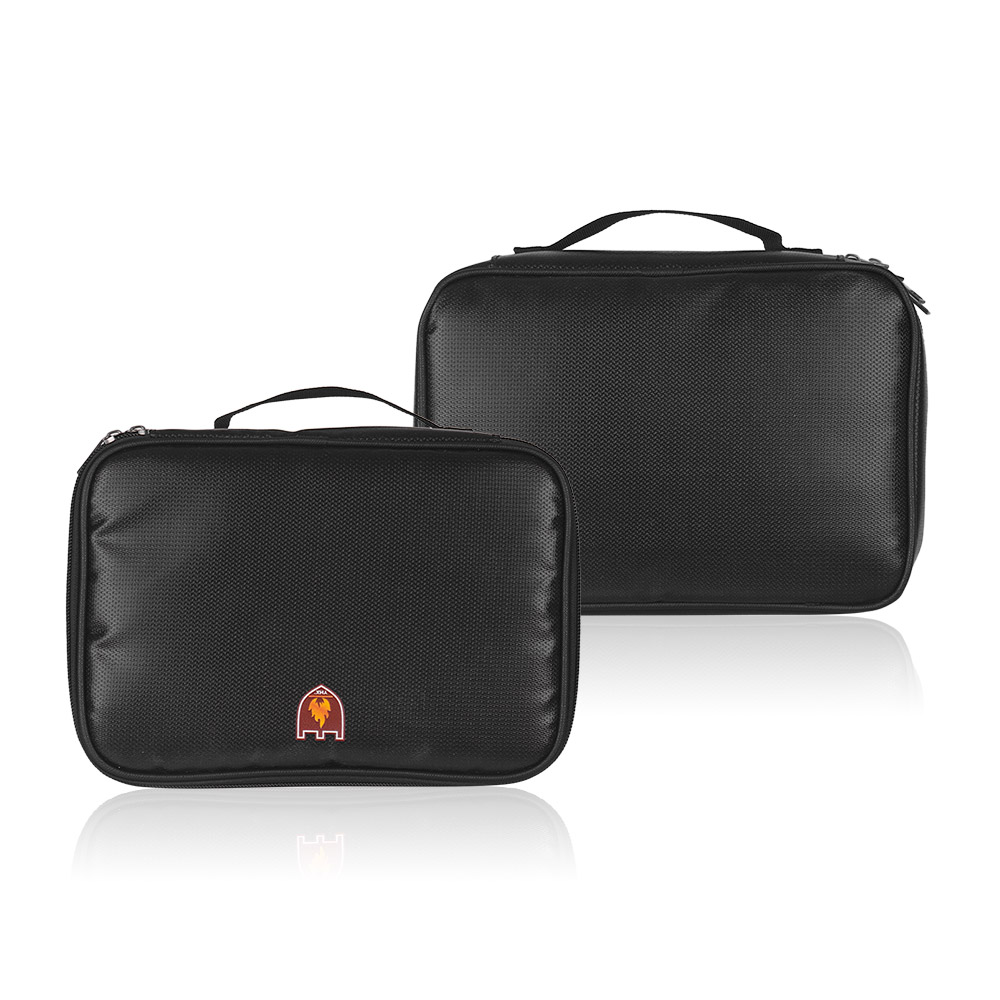 Three Layers Fireproof Bag Zipper Closure Handle Portable Large Safe Organizer Fire Proof Water Resistanct Carrying Box