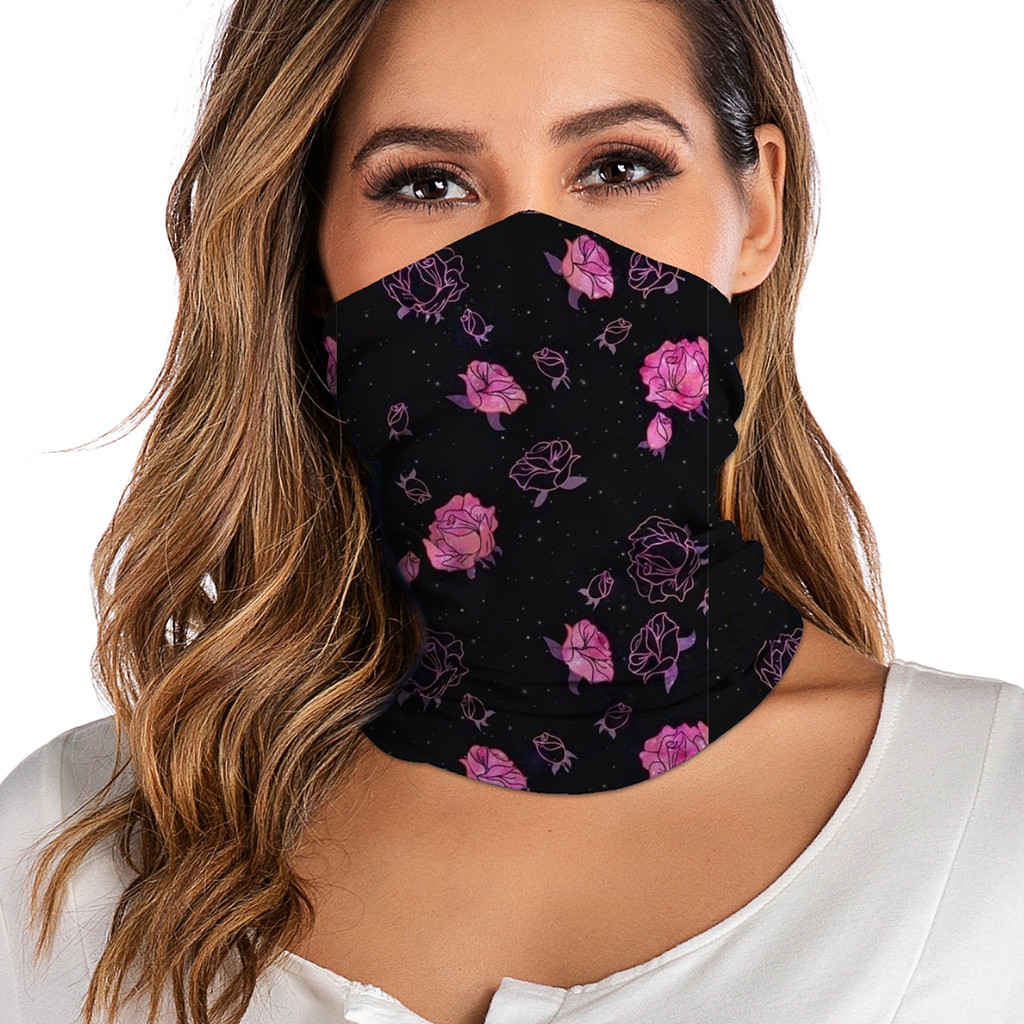 Unisex Washable Rave Bandana Neck Gaiter Tube Headwear For Women Men Face Scarf Dustproof Motorcycle Facemask Windproof cover(China)