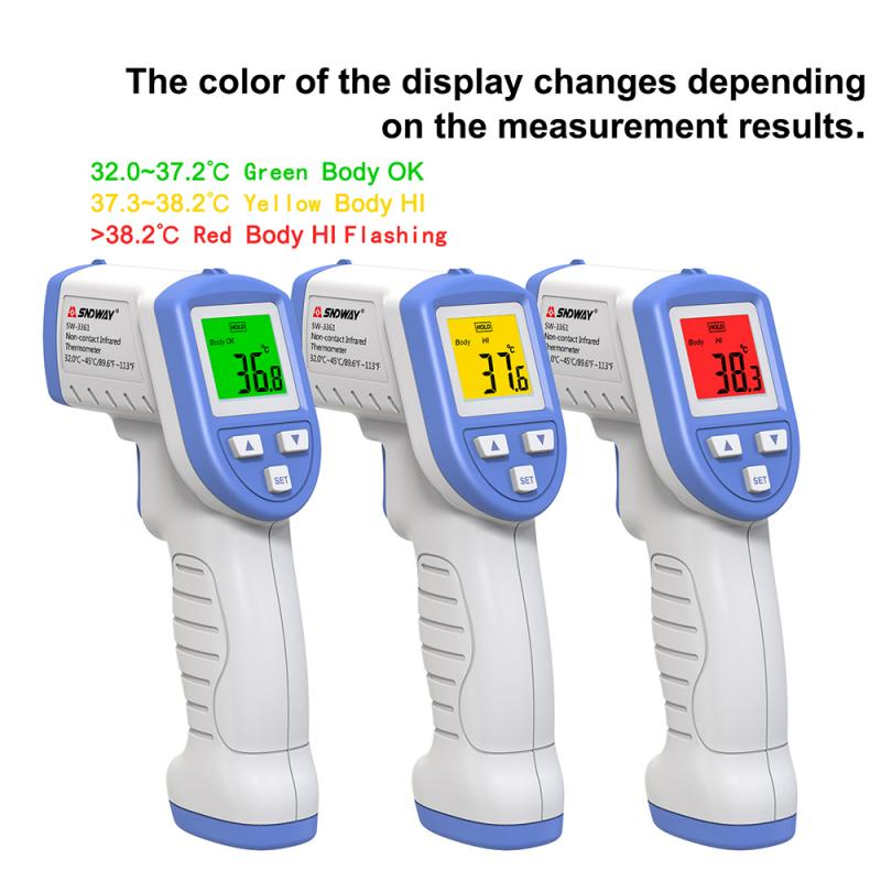 IR Infrared Digita No Contact Forehead Thermometer Temperature Detector High Precision Infrared Color Alarm Adult Body Fever