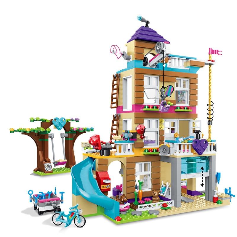 868 шт. строительные блоки для девочек, строительные блоки для девочек, совместимые с друзьями, детские игрушки для детей|Блочные конструкторы|   | АлиЭкспресс