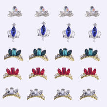 Стразы для ногтей 10 шт 3d украшения в форме короны украшение