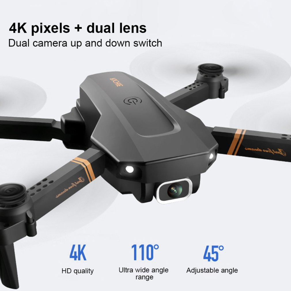 RC Drone 4K Hd Groothoek Camera 1080P Wifi Fpv Drone Dual Camera Quadcopter Real-Time transmissie Helicopter Speelgoed