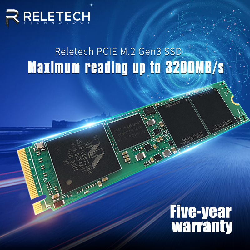 Reletech m.2 ssd m2 512gb nvme PCIe Marvell controll Solid State Drive 2280 Internal Hard Disk hdd for laptop desktop asrock msi