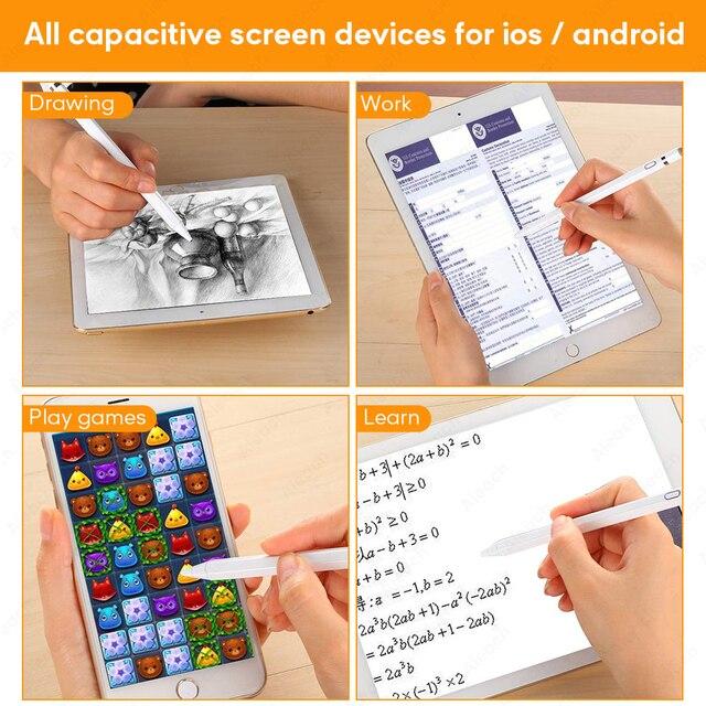 Pour stylet stylet tactile pour Apple iPad Pro 11 12.9 10.5 9.7 miini 5 Air crayon de capacité intelligent pour iPhone Huawei Xiaomi tablette