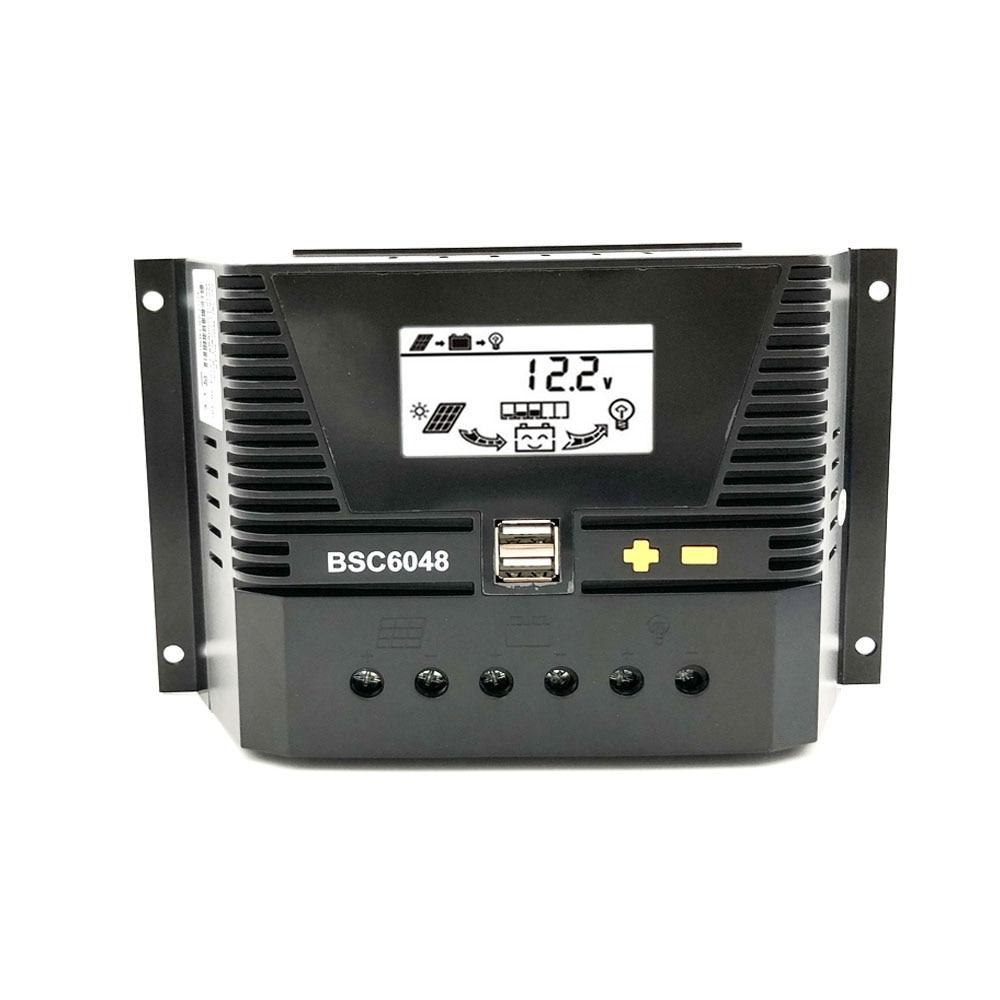 Contrôleur de Charge solaire 80A/60A/50A/40A/30A/20A/10A 12/24/36/48V 12V 24V 36V 48V | Batterie automatique rétro-éclairage en lithium LiFePO4 3.2V