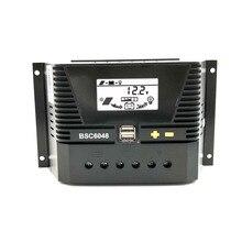 80a/60a/50a/40a/30a/20a/10a 12/24/36/48 controlador de carga solar 12v 24v 36v 48v, retroiluminação automática lifepo4 bateria de lítio 3.2v 3.7