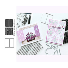 JC Metal Cutting Dies and Stamps Heart Wood Door Frame Scrapbooking Craft Stencil Paper Card Make Album Sheet Mold Mould Die Cut jc rubber stamps and metal cutting dies scrapbooking craft house pet dog s home stencil for card making album sheet decoration
