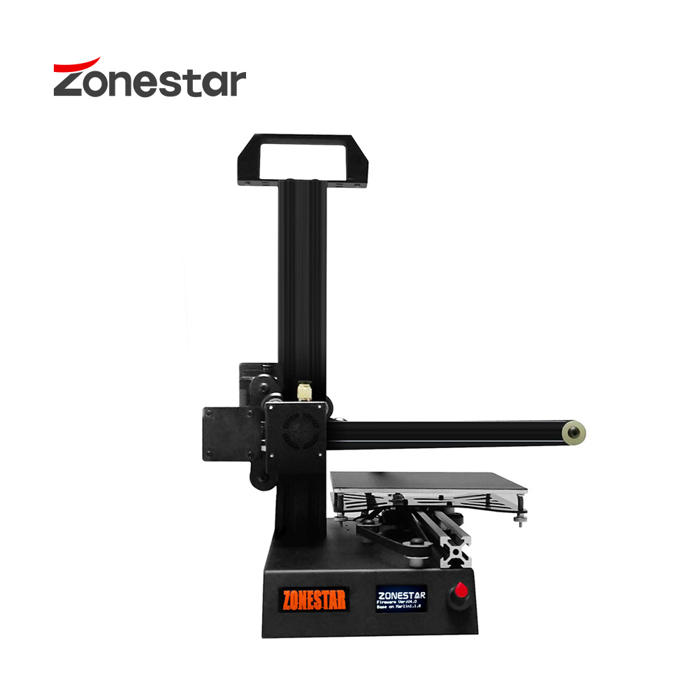 ZONESTAR Portable High Precision Resolution Easy Install Ultra Silent Student Education First Entry Level Hello World 3D Printer