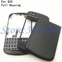 Top Qualidade Para BlackBerry Q10 Original Nova Completa Telefone Móvel completo Habitação + Tampa do Caso do Quadro + Teclado Inglês Com botão
