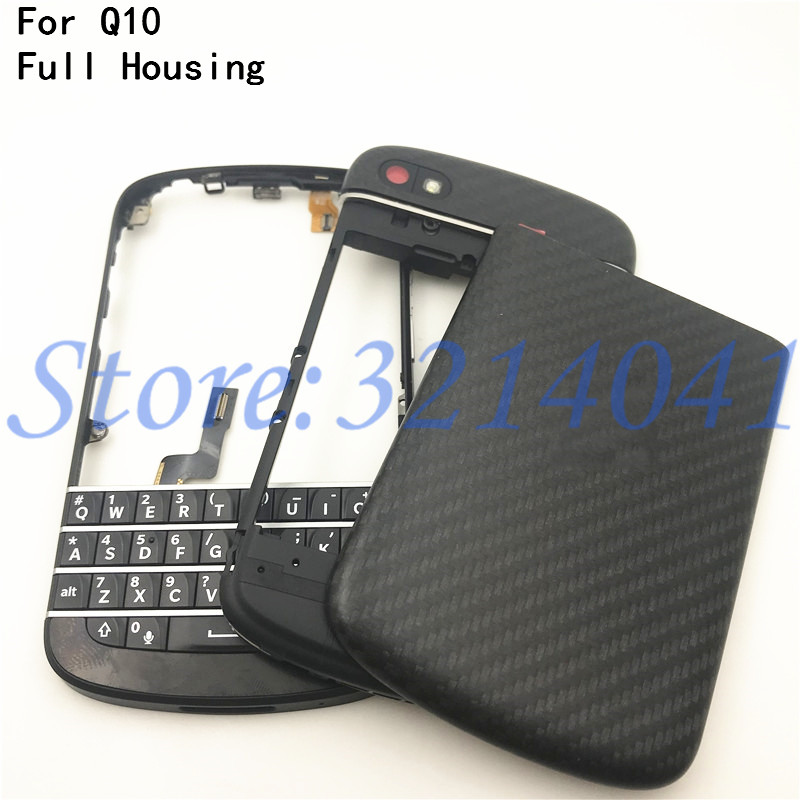 Top Quality For BlackBerry Q10 Original New Full Complete Mobile Phone Housing + Frame Cover Case + English Keypad With Button