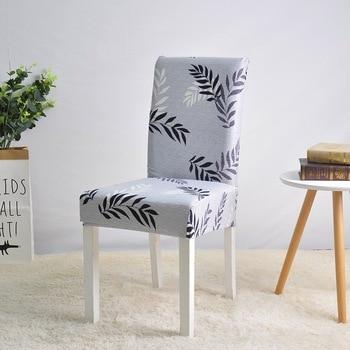 Funda elástica de LICRA para silla para comedor boda fiesta elástica  multifuncional muebles de comedor cubre decoración del hogar Color sólido