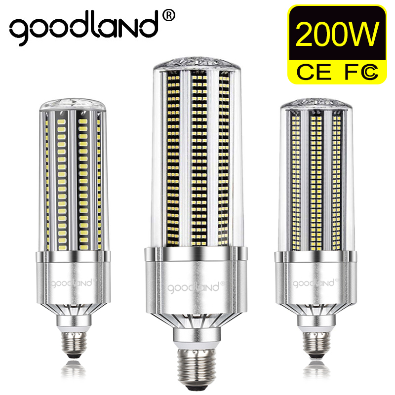 Goodland LED Corn Lamp E39 E40 LED Corn Light Bulb 50W 120W 200W LED Lamp 110V 220V E27 Aluminum For Warehouse Factory Basement