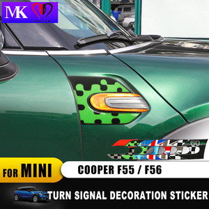 Image 3 - Union Jack guardabarros de señal de giro para coche, pegatina decorativa 3D para Mini Cooper Clubman F55 F56 F57 F54, accesorios para Clubman, 60 años