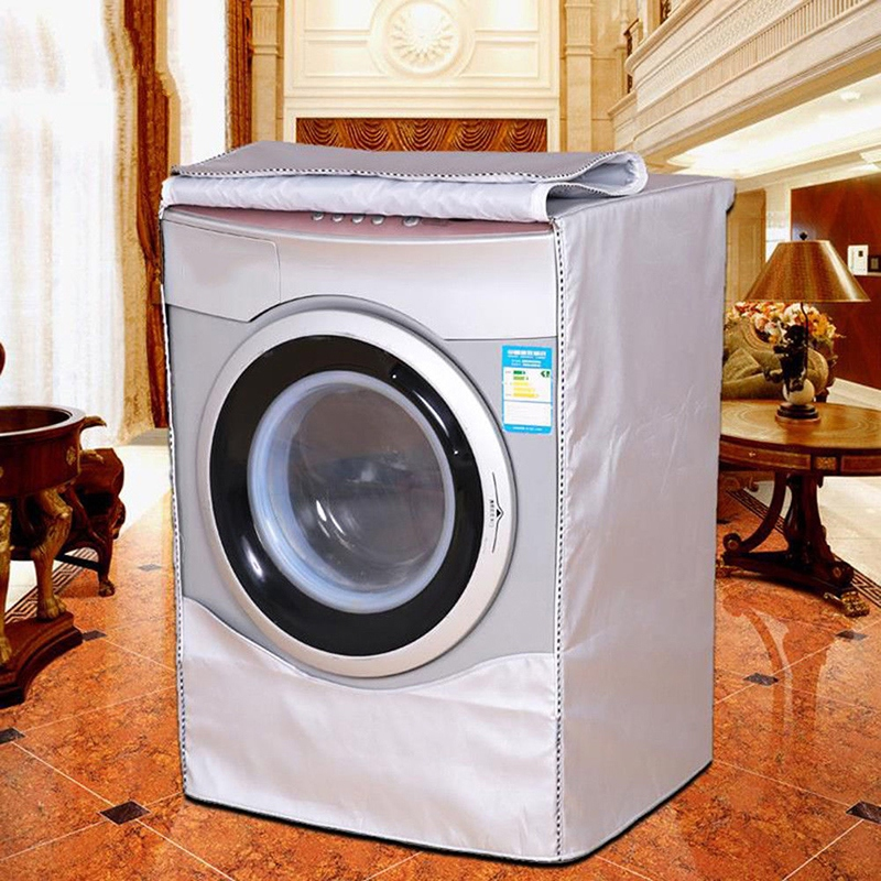 Waterproof Washer Silver Washing Machine Cover Cover For Front Load Washer/Dryer Dustproof Washing Machine Cover new! image
