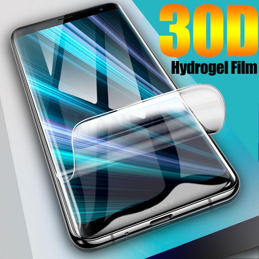 Silicone Hydrogel Film For Sony Xperia XZ4 XA3 1 10 5 XZ3 XZ4 XZ2 Premium XZ1 Compact Full Cover Soft Screen Protector No Glass