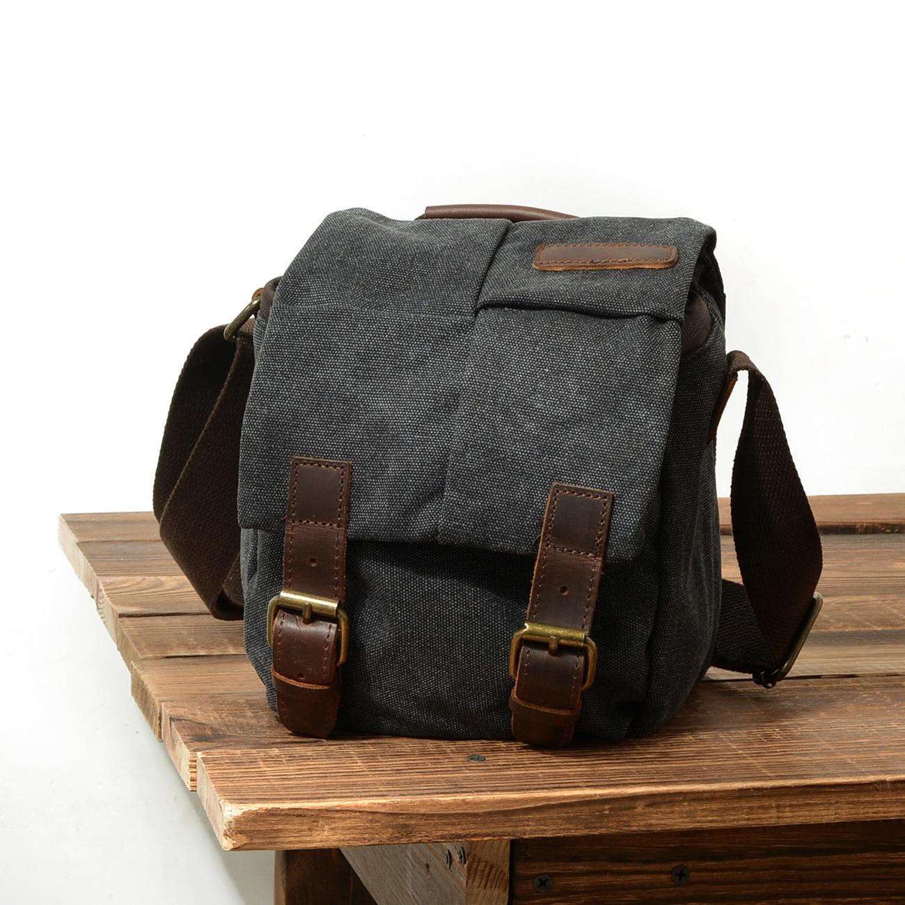 Sac en toile unisexe sac de messager épaule rétro caméra sac étanche caméra sac