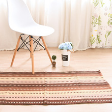 Alfombra nórdica Retro Para sala de estar tapiss algodón azul amarillo rojo colorido zona alfombras niños estera camino de mesa Vintage tapiz