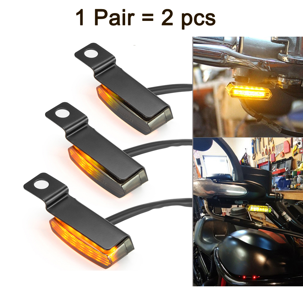 Mini LED Motorcycle Turn Signal Light Flowing Water Blinker Flashing Indicator Lamp For BMW Honda Cafe Racer Scooter ATV Emark