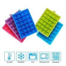 24 Silicone Ice Cube Tray with Lid Ice Cube Mold Food Grade Silicone Whiskey Cocktail Drink Chocolate Ice Cream Maker Party Bar