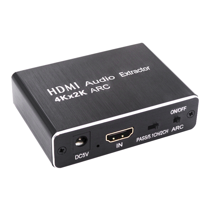 New HDMI Audio Extractor 5.1 ARC HDMI To HDMI And Optical SPDIF 3.5mm Stereo Audio Extractor Splitter