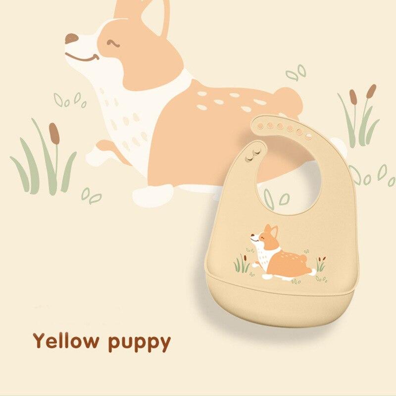 Animal Waterproof Silicone Bibs Burp Cloths Baby Toddler Kids Adjustable Feeding Apron Saliva Bandana Bibs Baby Scarf in Bibs Burp Cloths from Mother Kids