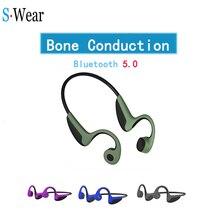 Fones de ouvido bluetooth 5.0 condução óssea fones de ouvido sem fio esportes handsfree headsetssupport transporte da gota