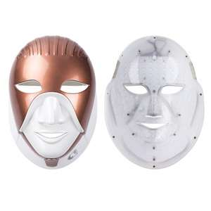 Image 2 - iebilif Rechargeable 7 Colors Led Mask For Skin Care Led Facial Mask With Neck Egypt Style Photon Therapy Face Beauty