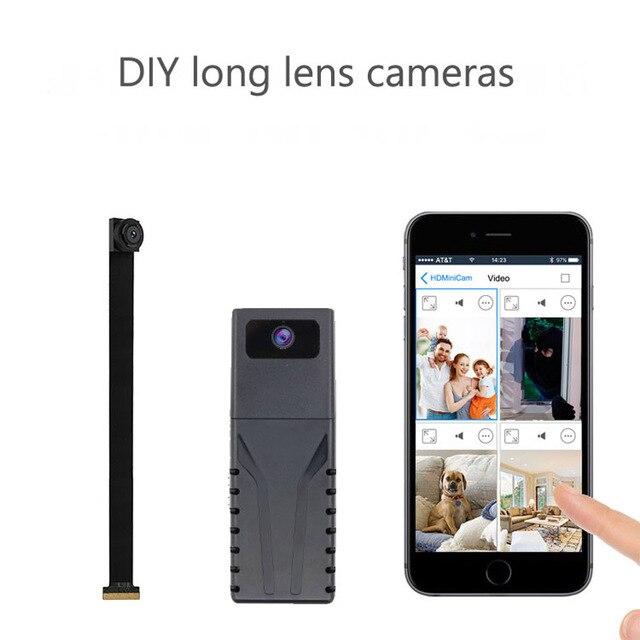 JOZUZE HD 720P DIY Portable WiFi IP Mini Camera P2P Wireless Micro webcam Camcorder Video Recorder Support Remote View TF card 6