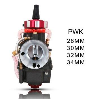 Carburador de motocicleta, Carburador de cabeza redonda para Keihin ATV Honda Suzuki PWK 28 30 32 34MM con Power Jets