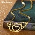 Ожерелье с именем стетоскопа на заказ, ожерелье из нержавеющей стали золотого и серебряного цвета, чокер, ожерелья для женщин, доктор, медсе...