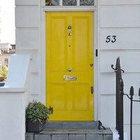 Número de porta casa 3d grande 139mm  números de endereço casa para casa digital porta ao ar livre sinal 5.5 Polegada. #0-9 plástico abs preto