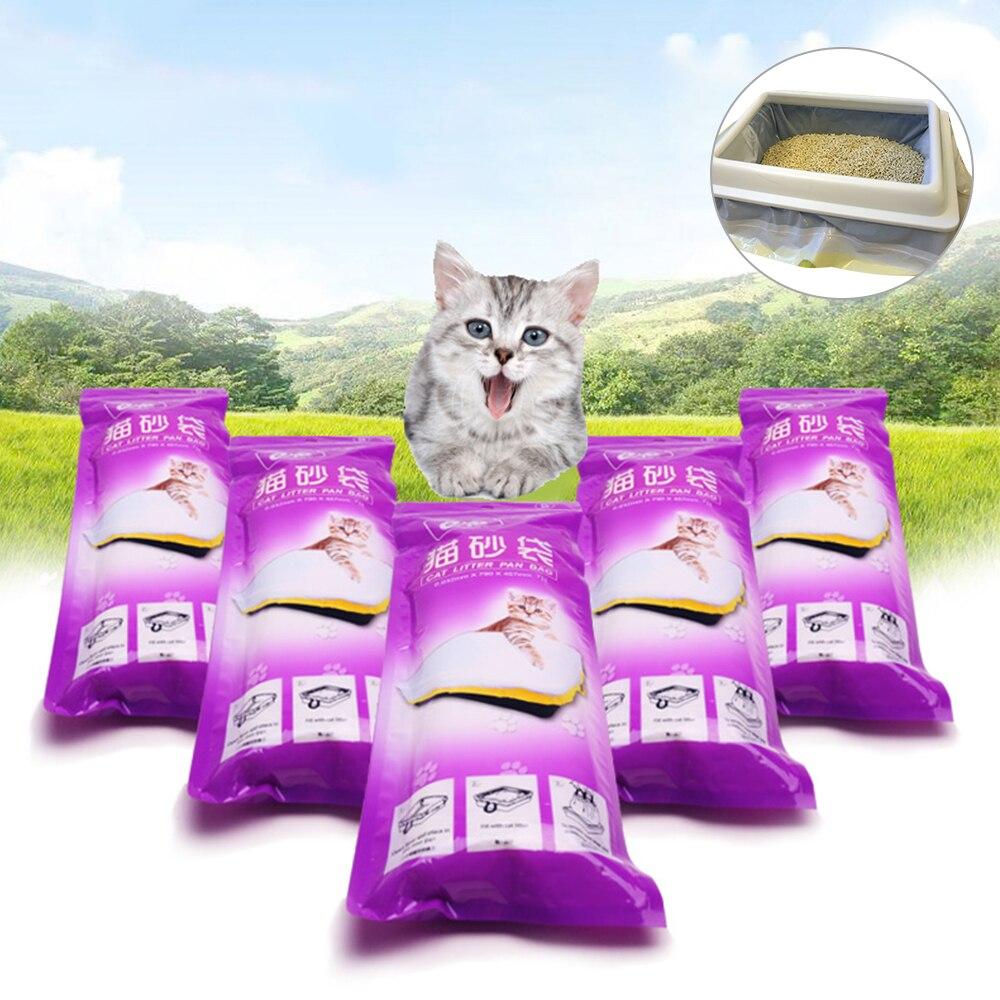 PAPASGIX Pet Cat Litter Bag Cat Litter Box Mat Kitten Litter Pan Tray Bags Cleaning Supplies For Storage Cat Sand S/M/L 7PCS