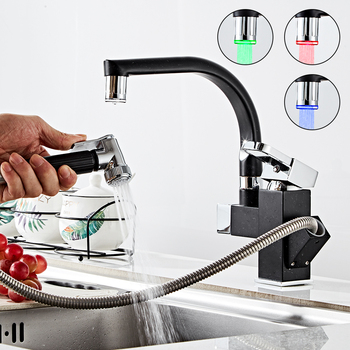 Kitchen Faucet Pull Out Copper Cold Hot Dishwasher 360 Rotation Sink Faucet Household torneira de cozinha Deck Mounted Mixer Tap