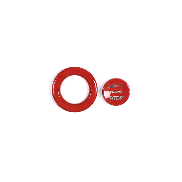 Red/Silver/Blue ABS Car ABS Engine Start Stop Button Trim For Land Rover Discovery Sport LR5 Range Rover Sport Vogue Evoque Part 4