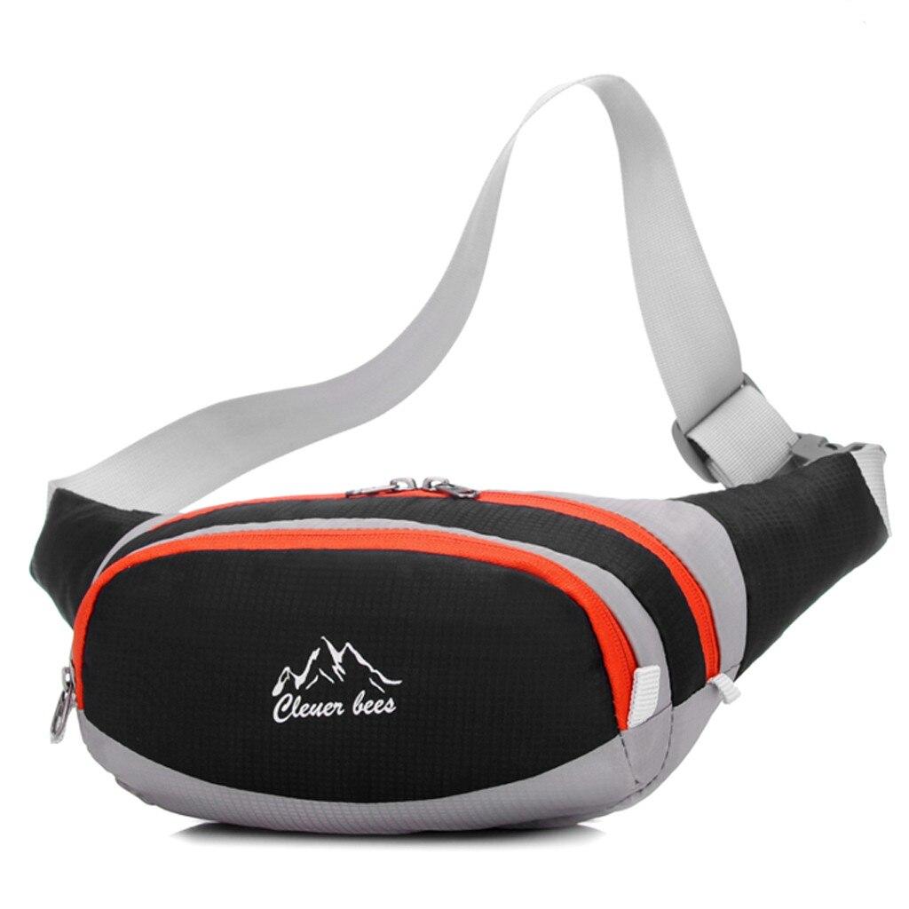Casual Waist Packs Men Women Waist Bag Unisex Sport Fitness Nylon Chest Bags Adjusted Belt Fanny Packs Zipper Simple Waist Packs