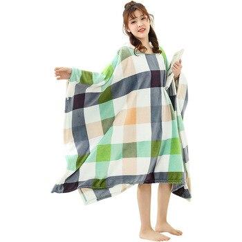 Winter Thick Sofa Comfy TV Blanket Hoodie Sweatshirt Weighted Throw Blanket Fuzzy Fleece Plaid Blanket Fleece Blanket Adult Kids 5