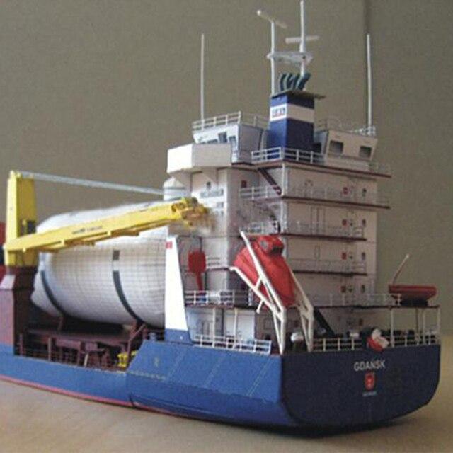 1:400 Gdansk Cargo Ship DIY Handcraft 3D Paper Card Model Sets 4