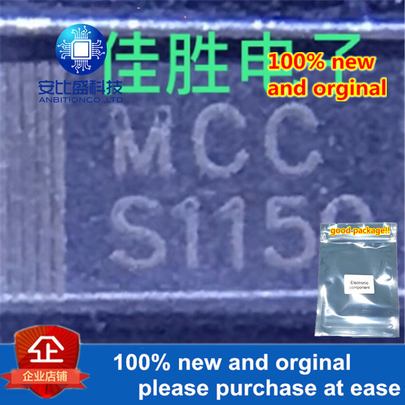 50pcs 100% New And Orginal SS1150 1A150V DO214AC Silk-screen S1150 In Stock