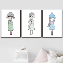Wall Art Canvas Painting Print Glass Baby Girl Canvas Painting Kids Nordic Posters And Prints For Living Room Girl Bedroom Decor balloon whale panda wall art canvas painting nordic posters and prints wall pictures for kids bedroom baby boy girl room decor