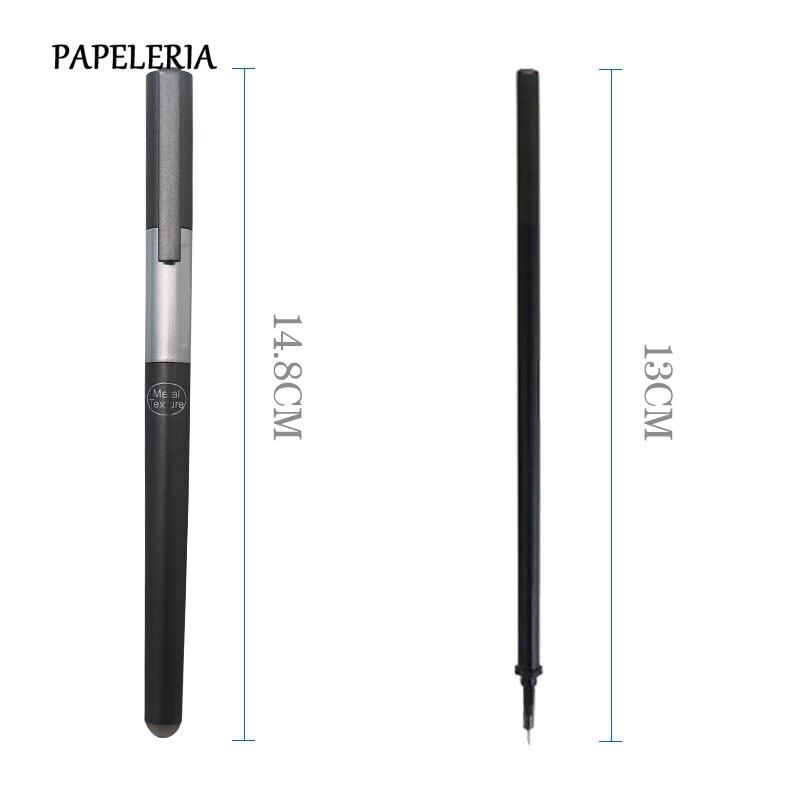 Купить с кэшбэком 14Pcs/Set Luxury Style Erasable Pen Handle 0.38mm Blue/Black Ink Refill Gel Pen Rod For School Office Supplies Tool Stationery
